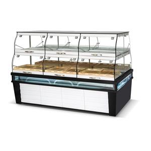 R&双面展示面包展示柜