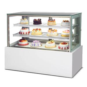 R&日式三层后移门蛋糕展示柜