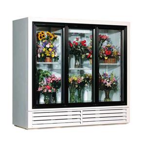 三门鲜花柜--典雅白