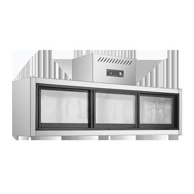 壁挂式工作台不锈钢玻璃门冷藏风冷工作台