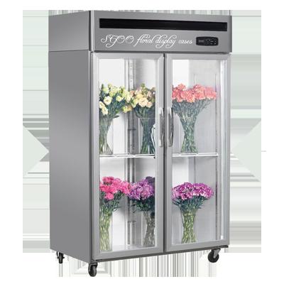 玻璃门鲜花展示柜