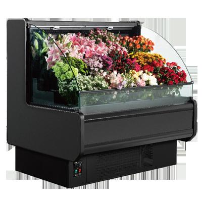 侧边圆弧玻璃敞开式鲜花柜