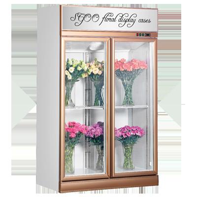 玫瑰金色门框鲜花冷藏展示柜