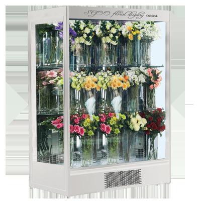 敞开式侧面玻璃鲜花冷藏展示柜