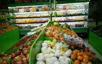 新疆乌鲁木齐 旺源水果店 绿色蔬菜柜水果柜