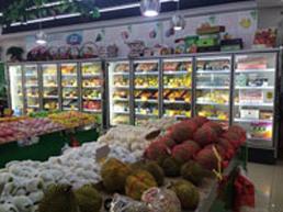 嘉民 水果店超市风幕柜 黑色样式案例
