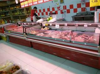 四川 高金 鲜肉柜_红色_超市工程案例